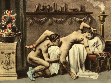 El cunnilingus visto por Édouard-Henri Avril (1843-1928).