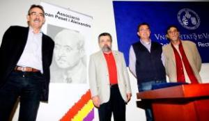Jornades. Ismael Saz, Pedro Rodríguez, president de l?associació Peset, Marc Baldó i Ricard Camil Torres. levante-emv