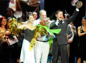 ALEGRÍA. Hiroshi Yamao y Kioko Yamao festejan la obtención del premio. (Ministerio de Cultura GCBA)