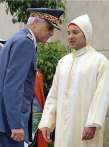 Mohamed V y Hosni Bensliman  Mohamed V (derecha), rey de Marruecos, y Hosni Bensliman, en 2001.  EPA