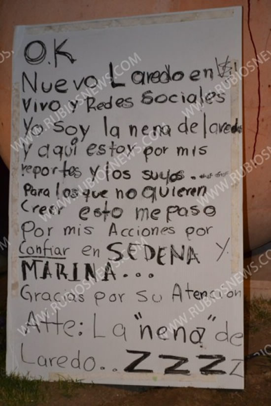 """Los narcos decapitan a """"la nena de Laredo"""""""