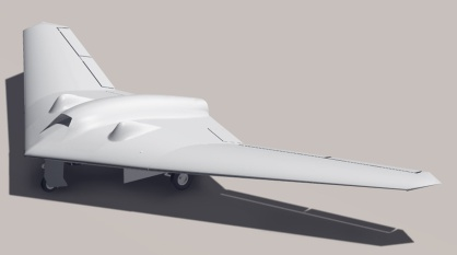 Drone estadounidense del mismo modelo que el caído sobre Irán. / HO (AFP)