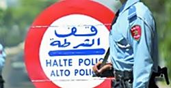Control de policía marroquí.
