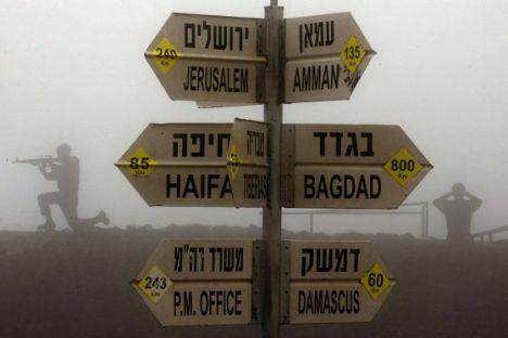 Siluetas de soldados en un puesto israelí en los Altos del Golán. / JACK GUEZ  (AFP)