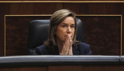 Ana Mato, en la sesión de control al Gobierno del pasado miércoles. / ULY MARTÍN