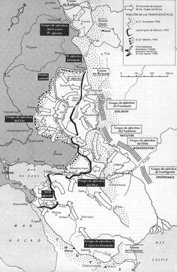 La batalla por Stalingrado: contraofensiva soviética liberada Stalingrado