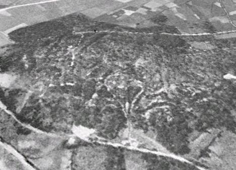 Imagen área del año 56 que sirvió de pista para identificar la mina.