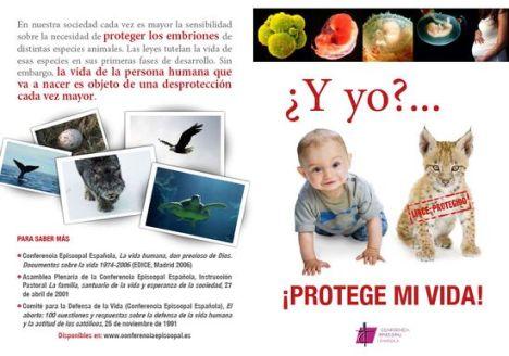 Folleto de una campaña de la Conferencia Episcopal Española en 2009.