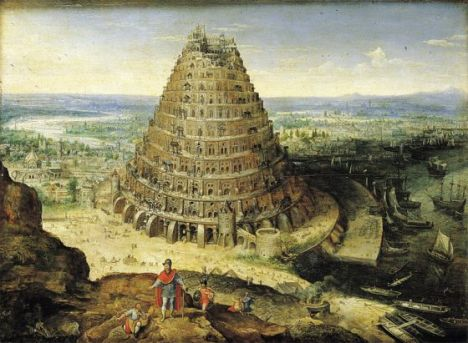 """""""Torre de Babel"""" (1594), de Lucas van Volkenborth."""