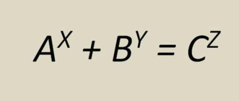 Ecuación de la Conjetura de Beal. 1.000.000 de $ si la solucionas.