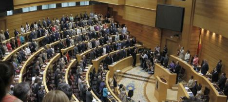 Sesión parlamentaria en el Senado. (EFE)