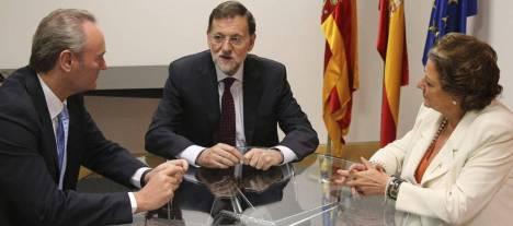 Rajoy, con Fabra y Barberá.