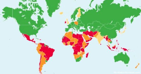 Mapa interactivo: Center for the Reproductive Laws, The World´s Abortion Laws 2013