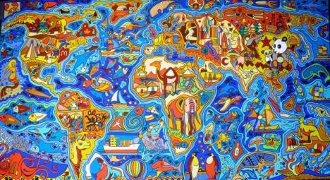 Mapa del mundo ilustrado por Evil Painter (DevianArt)