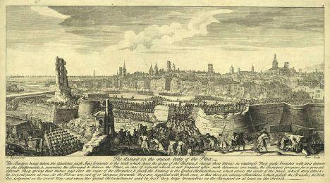 Asalto final de las tropas borbónicas sobre Barcelona el 11 de septiembre de 1714. Wikimedia Commons
