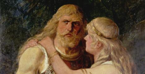 'Arminio se despide de Thusnelda', pintura de Johannes Gehrts, 1884.