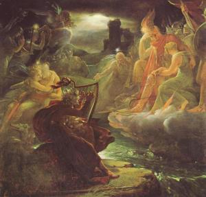 El bardo Ossian visto por François Gérard (1880)