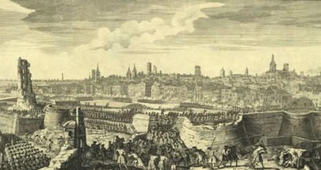 Grabado del asalto final a Barcelona el 11 de septiembre de 1714 (Wikimedia Commons).