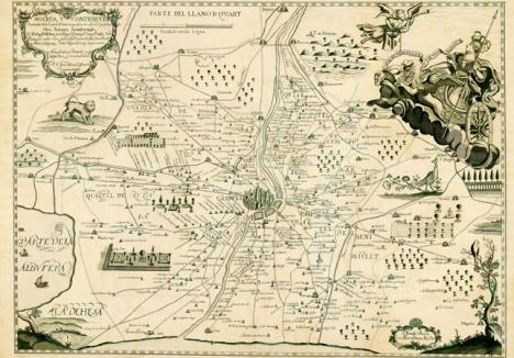 Plano 'Huerta y contribución de la ciudad de Valencia' de 1695. / LP