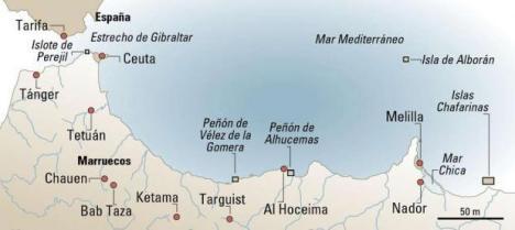Mapa del Rif