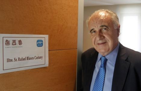 Rafael Blasco, en su despacho en Les Corts. / TXEMA RODRÍGUEZ