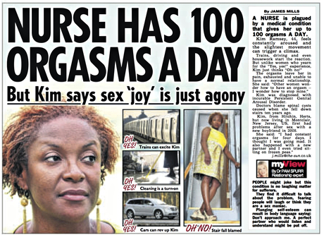 The Sun's story about Kim Ramsey from August 2012. 'It was a sensational, ugly article,' says Ramsey. Photograph: The Sun