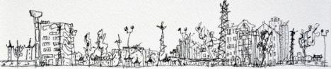 Boceto del estudio de arquitectura ganador del premio ONU-Habitat. / Improvistos