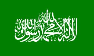 Bandera utilizada por Hamás.