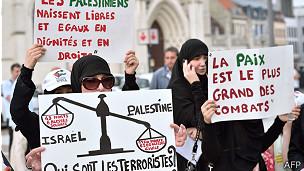 La operación israelí ha generado rechazo entre algunos grupos. Esta protesta ocurrió en el norte de Francia.