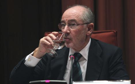 Rodrigo Rato, en una comparecencia ante el Parlament de Cataluña, en 2013. (Efe)