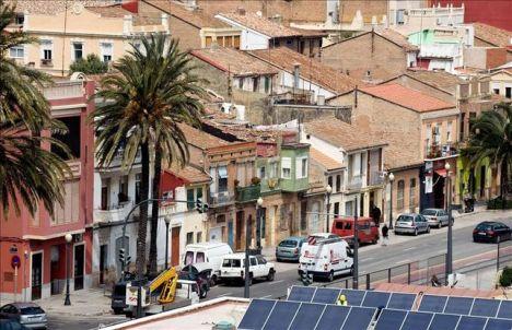 Una vista del barrio del Cabanyal, en Valencia
