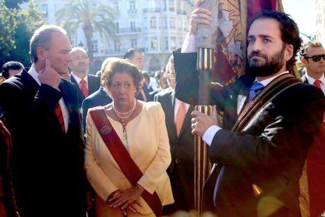 Alberto Fabra, presidente de Valencia, y la alcaldesa Rita Barberá, en 2014. / tania castro