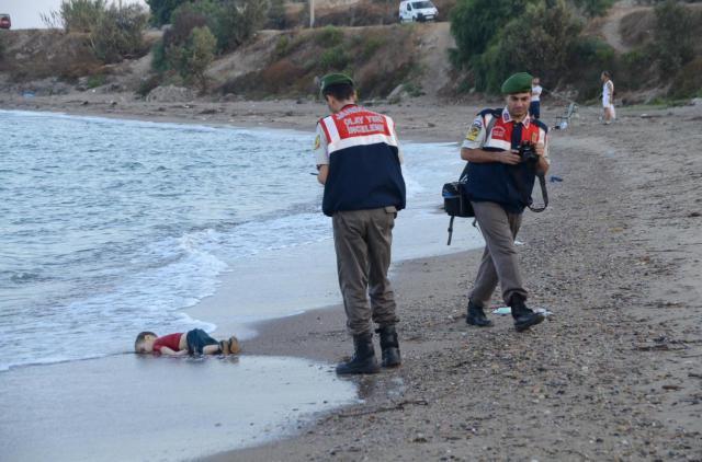 niño sirio ahogado en Kos