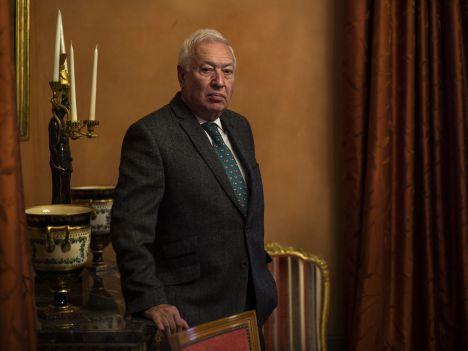 El ministro de Exteriores, José Manuel García Margallo, ayer durante el encuentro con EL ESPAÑOL / Moeh Atitar