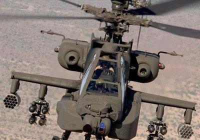 helicóptero militar Apache estadounidense.