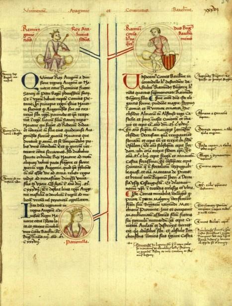 Copia ampliada del S.XV de la Genealogia regum Navarrae et Aragoniae et comitum Barchinonae (1380)