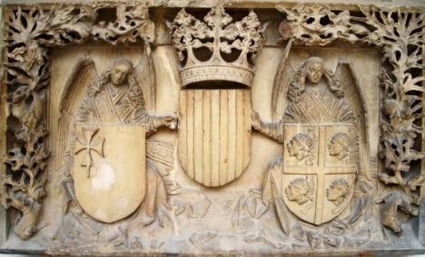 Escudos del desaparecido Palacio de la Diputación del General del Reino de Aragón