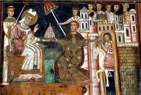 Fresco de 1247 de la capilla de San Silvestre
