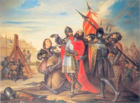 Muerte de Sancho Ramírez sitiando Huesca