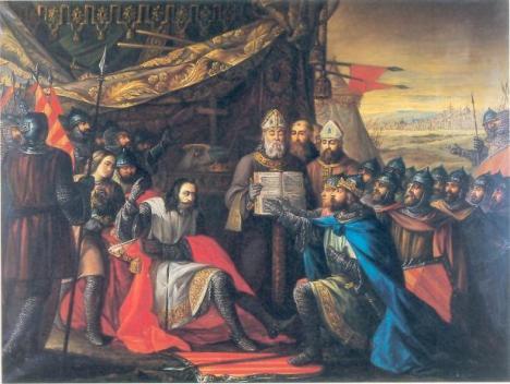 Sancho Ramirez tomando juramento a sus hijos