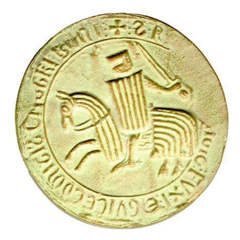 Sello del Conde de Foix, Roger IV, vasallo de Jaime I