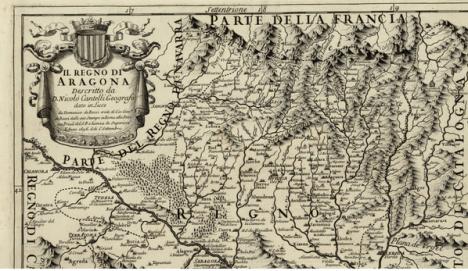 1696. Nicolo Cantelli. Mapa del reino de Aragón