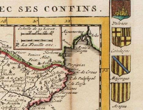 1747. Le Royaume d'Espagne avec ses confins