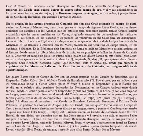 Extracto de Narraciones Históricas de Francesc de Castellví