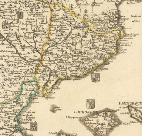 L'Espagne. Pierre Du Val, 1684