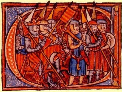 Miniatura de la Compilación de los Fueros de Aragón, S.XIII