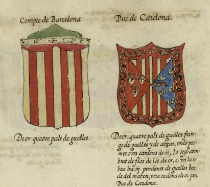 Nobiliario Armas de Valencia, Aragón y Cataluña. S.XVI