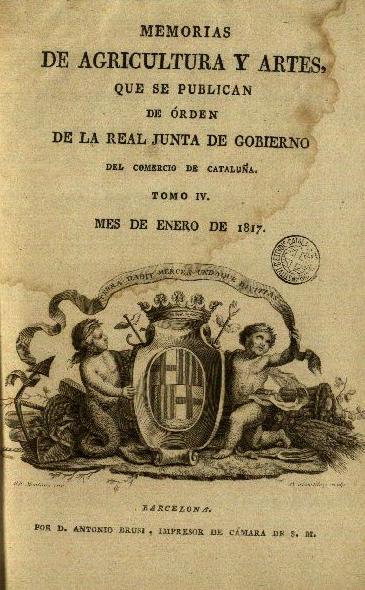 real junta de gobierno del comercio de Cataluña 1817